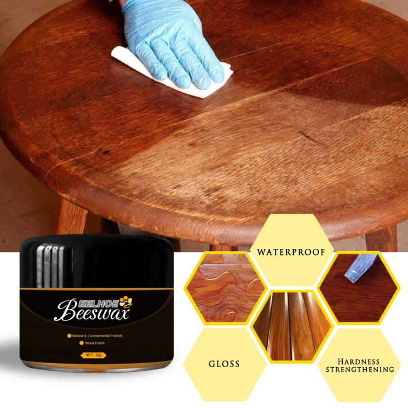 Solid Wood Maintenance Cleaning Polished Care Beeswax Wood Care Seasoning Beeswax Wear-Resistant Waterproof Wax Furniture Care